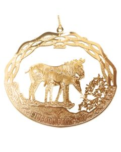 2020 Brass Zebra Ornament