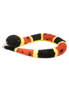 54'' Red Yellow Coral Snake Plush
