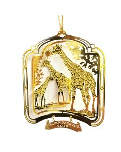 2019 Brass Giraffe Ornament